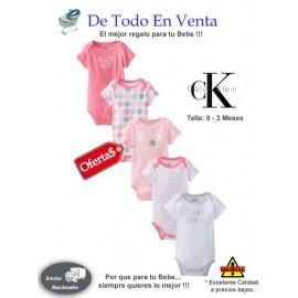Mamelucos Para Bebé Calvin Klein 0 a 3 Meses