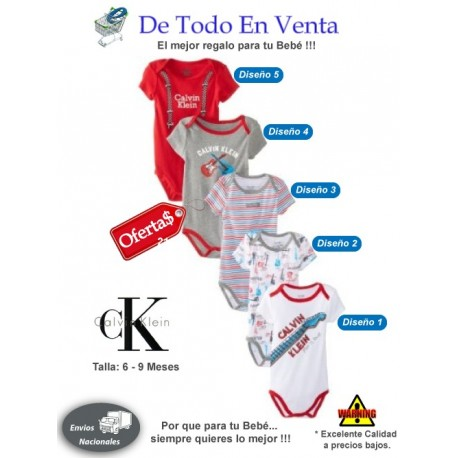 5306f30cd87 Ropa para Bebé Calvin Klein 6 a 9 Meses - Rojo - De Todo En Venta