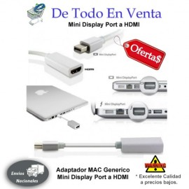 Adaptador Mini DisplayPort a HDMI
