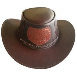 Sombrero Ribete Trenzado Caballo Relieve