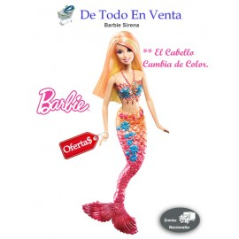 Barbie Sirena Cambia de Color