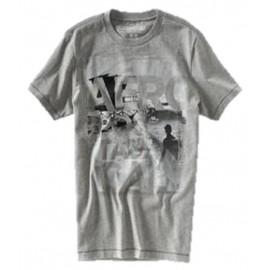 Camiseta Aeropostale Hombre Gris