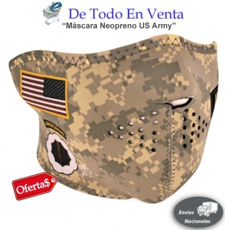 Máscara Neopreno US Army