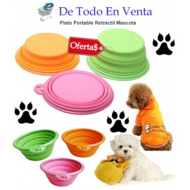 Plato Portable Retráctil para Mascotas