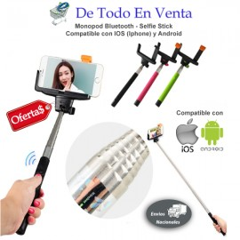 Monopod Bluetooth Incluido (Monopod Bluetooth + Base Cel o Camara)