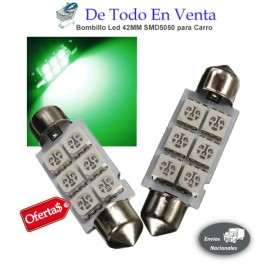 Bombillo Led 42MM SMD5050 para Carro