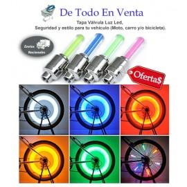 Tapa Válvula Luz Led Moto / Bicicleta x 2
