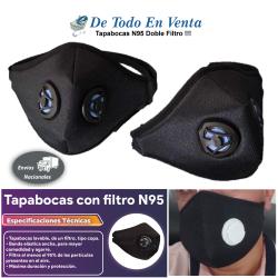 Tapabocas N95 Doble Filtro